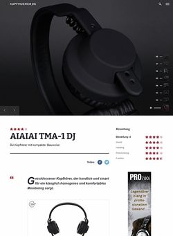 Kopfhoerer.de AIAIAI TMA-1 Headphone w/Mic