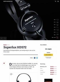 Kopfhoerer.de Superlux HD 572