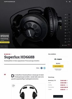 Kopfhoerer.de Superlux HD-668 B