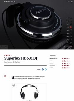 Kopfhoerer.de Superlux HD-631 DJ