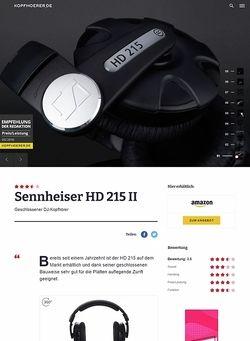 Kopfhoerer.de Sennheiser HD-215 II