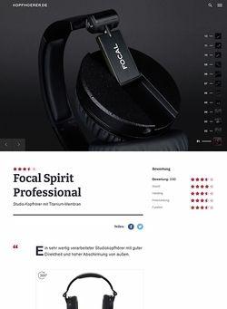 Kopfhoerer.de Focal Spirit Professional