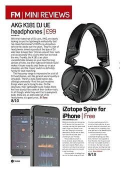 Future Music AKG K181 DJ UE headphones