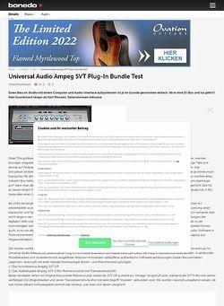 Bonedo.de Universal Audio Ampeg SVT Plug-In Bundle
