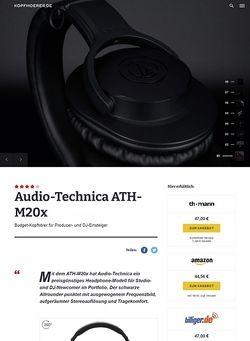 Kopfhoerer.de Audio-Technica ATH-M20 X