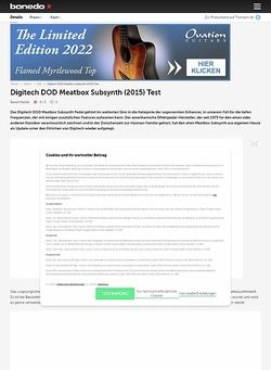Bonedo.de Digitech DOD Meatbox Subsynth (2015)