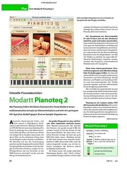 KEYS Test: Modartt Pianoteq 2