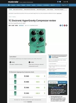MusicRadar.com TC Electronic HyperGravity Compressor