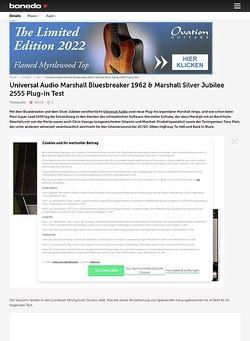Bonedo.de Universal Audio Marshall Bluesbreaker 1962 & Marshall Silver Jubilee 2555 Plug-In