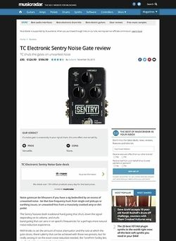 MusicRadar.com TC Electronic Sentry Noise Gate