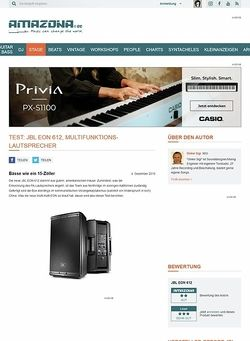 Amazona.de Test: JBL EON 612, Multifunktions-Lautsprecher