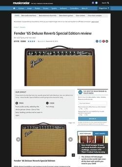 MusicRadar.com Fender '65 Deluxe Reverb Special Edition