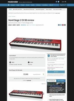 MusicRadar.com Nord Stage 2 EX 88