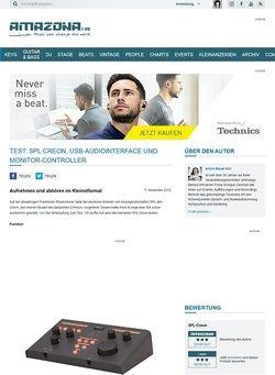 Amazona.de Test: SPL Creon, USB-Audiointerface und Monitor-Controller