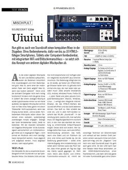 SOUNDCHECK SOUNDCRAFT UI16