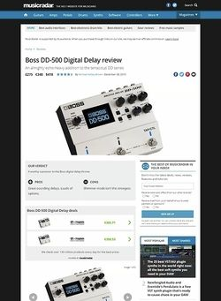MusicRadar.com Boss DD-500 Digital Delay