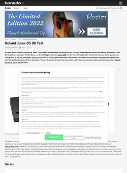 Bonedo.de Roland Juno-DS 88