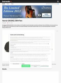 Bonedo.de Ibanez GRGM21GB-BKN