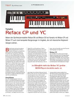 KEYS Yamaha Reface CP und YC