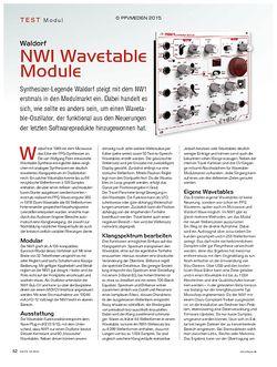 KEYS Waldorf NW1 Wavetable Module