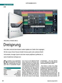 Recording Magazin Presonus Studio One 3