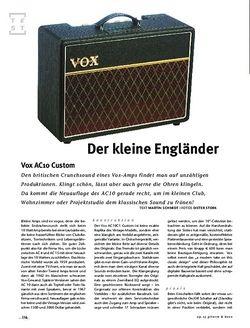 Gitarre & Bass VOX AC10 Custom