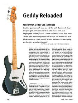 Gitarre & Bass fender geddy lee