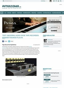 Amazona.de Test: Universal Audio Oxide Tape Recorder, Bandsättigungs Plug-in