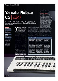 Future Music Yamaha Reface CS