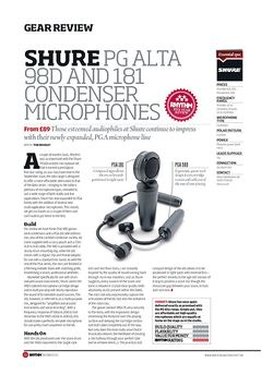 Rhythm Shure PG Alta 98D And 181 Condenser Microphones