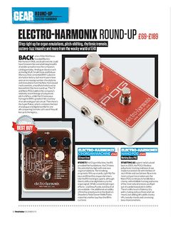 Total Guitar Electro-Harmonix C9, Nano POG, Octavix and Super Pulsar