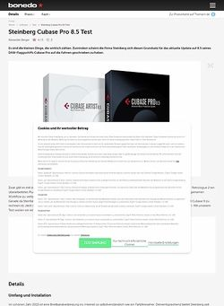 Bonedo.de Steinberg Cubase Pro 8.5