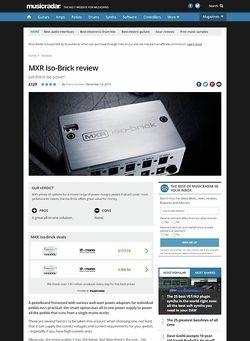 MusicRadar.com MXR Iso-Brick