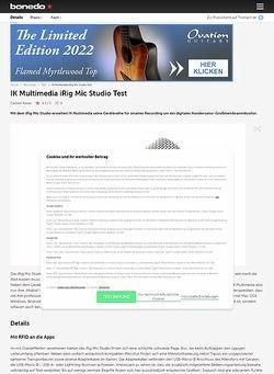 Bonedo.de IK Multimedia iRig Mic Studio