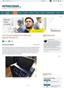 Amazona.de Test: Alesis TransActive Wireless – Akkubetriebene PA