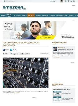 Amazona.de Test: Marienberg Devices, Modular-Synthesizer