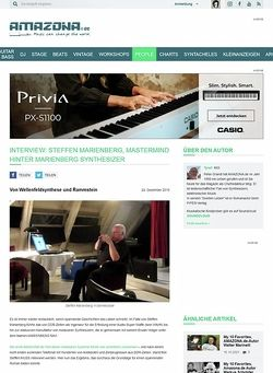Amazona.de Interview: Steffen Marienberg, Mastermind hinter Marienberg Synthesizer