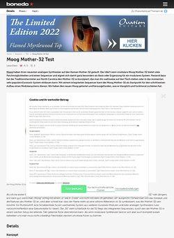 Bonedo.de Moog Mother-32