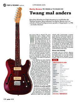 guitar Harley Benton TE-90QM & TE-90QM HH