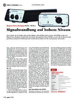 guitar Rupert Neve Designs RNDI - DI-Box