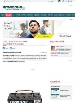 Amazona.de Test: Orange Micro Dark, Gitarrenverstärker