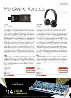 Beat Lewitt LCT 550, M-Audio M50