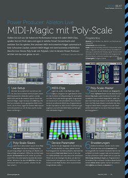Beat Ableton Live - MIDI-Magic mit Poly-Scale