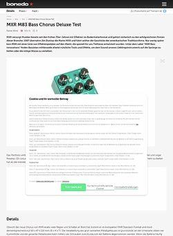 Bonedo.de MXR M83 Bass Chorus Deluxe