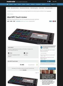MusicRadar.com Akai MPC Touch