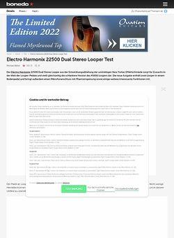 Bonedo.de Electro Harmonix 22500 Dual Stereo Looper