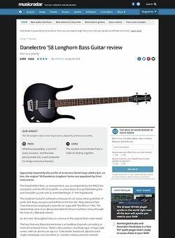 MusicRadar.com Danelectro '58 Longhorn Bass Guitar