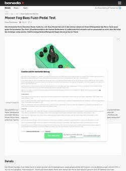Bonedo.de Mooer Fog Bass Fuzz-Pedal