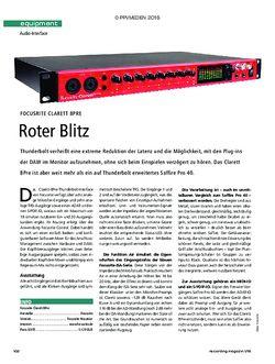 Recording Magazin Focusrite Clarett 8Pre