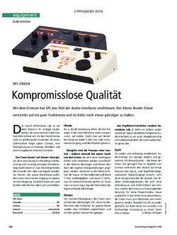 Recording Magazin SPL Creon